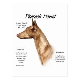 Postal Diseño de la historia del perro del Pharaoh