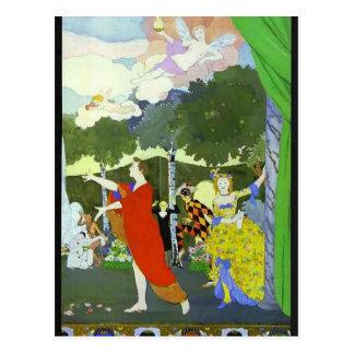 Postal Diseño de la Somov-Cortina de Konstantin para