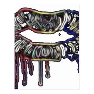 Postal Diseño de los labios del arco iris