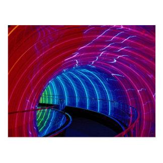 Postal Diseño de neón, iluminación de la carpa