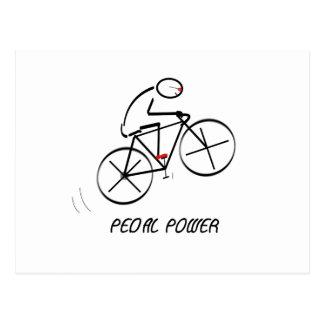 """Postal Diseño del Bicyclist de la diversión con """"el texto"""
