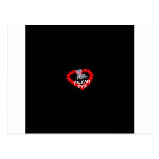 Postal Diseño del corazón de la vela para el estado de