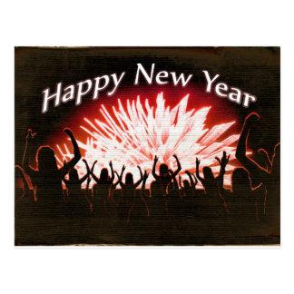 Postal Diseño del fiesta de la Feliz Año Nuevo