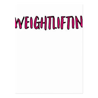 Postal Diseño del levantamiento de pesas