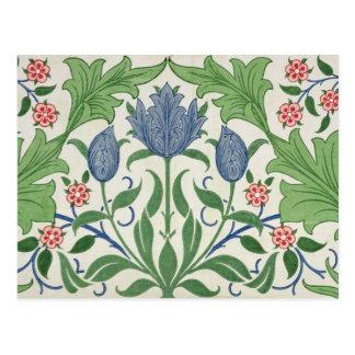 Postal Diseño del papel pintado floral