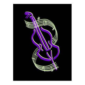 Postal Diseño del violoncelo