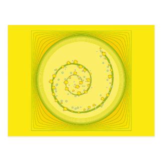 Postal Diseño espiral amarillo