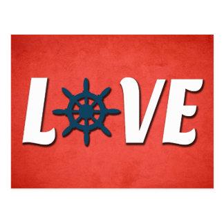 Postal Diseño náutico del amor