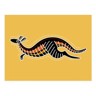 Postal Diseño punteado canguro