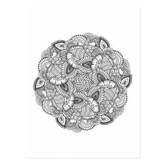 Postal Diseño redondo del Doodle