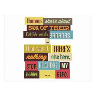 Postal diseño texting humano de la DNA