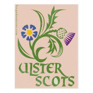 Postal Diseño Ulster-Escocés del lino y del cardo
