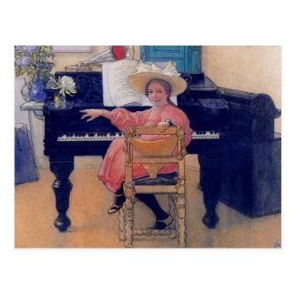 Postal Diva de florecimiento del piano
