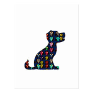 Postal DIVERSIÓN del animal de mascota del perro del AMOR