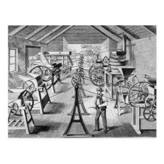 Postal Diversos tipos de maquinaria agrícola