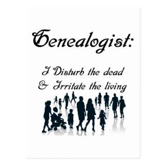 Postal divertida de la genealogía