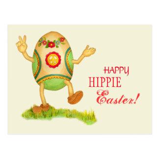 Postal divertida de Pascua del Hippie