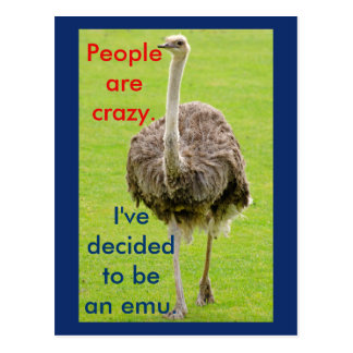 Postal divertida del Emu