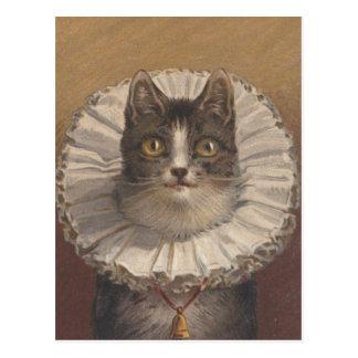 Postal divertida del gato de Edwardian del vintage