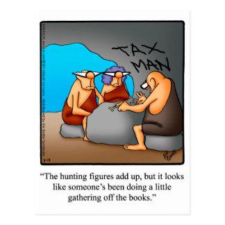 Postal divertida del humor del impuesto