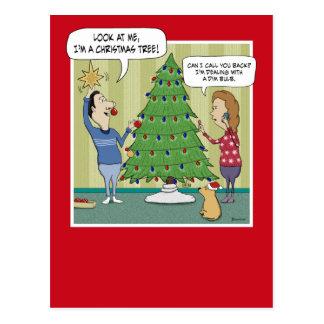 Postal divertida del navidad: Bulbo oscuro