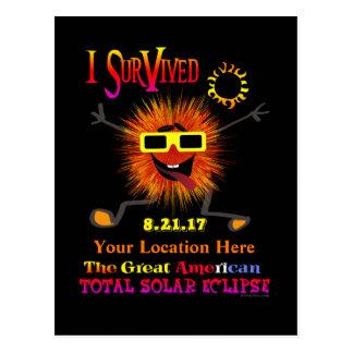 Postal Divertido sobreviví el gran eclipse solar