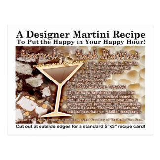 Postal divina de la receta de Martini del hachís