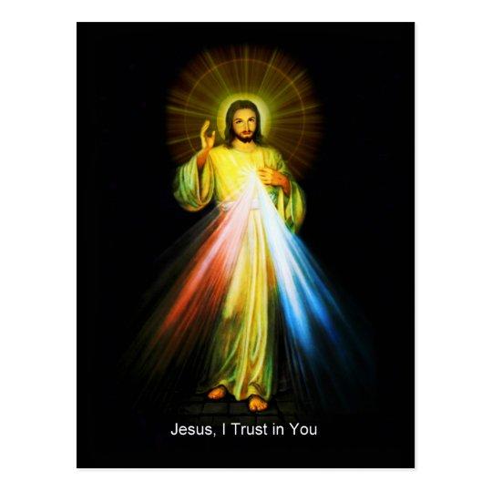 Postal divina del católico de la misericordia de