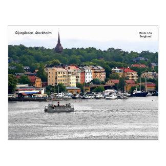 Postal Djurgården, Estocolmo, Ola de la foto…