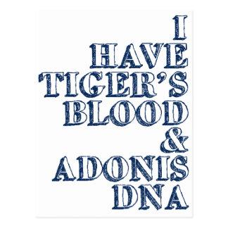 Postal DNA Sheen de Adonis de la sangre del tigre