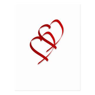 Postal doble del corazón