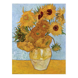 Postal Doce girasoles de Vincent van Gogh
