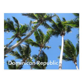 Postal dominicana de la palma