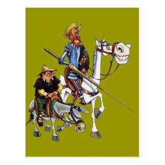 Postal DON QUIJOTE, SANCHO, ROCINANTE y RUCIO - Cervantes