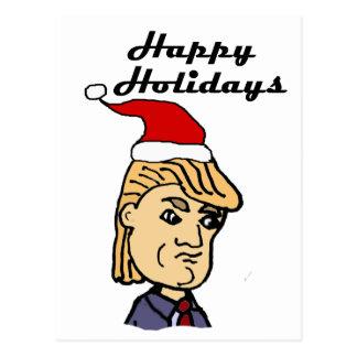 Postal Donald Trump divertido en dibujo animado del
