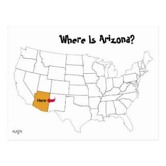 Postal ¿Dónde está Arizona?