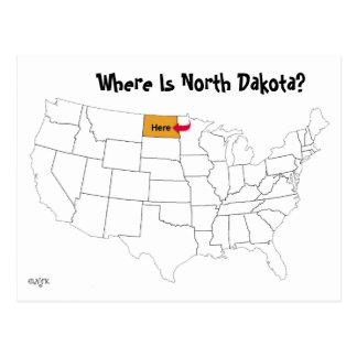 Postal ¿Dónde está Dakota del Norte?
