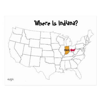 Postal ¿Dónde está Indiana?