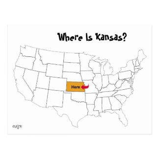 Postal ¿Dónde está Kansas?