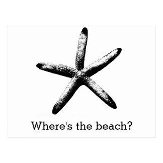 Postal ¿Dónde está la playa?