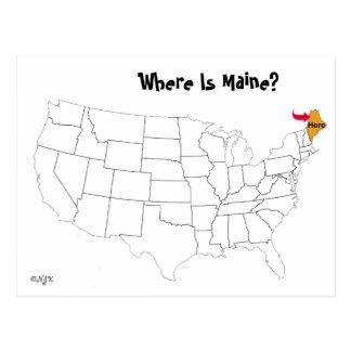 Postal ¿Dónde está Maine?