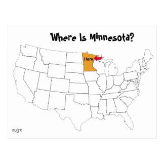Postal ¿Dónde está Minnesota?