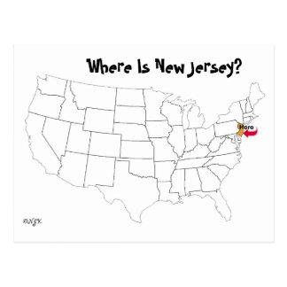 Postal ¿Dónde está New Jersey?