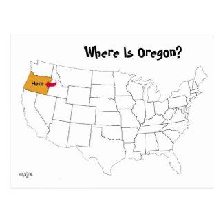 Postal ¿Dónde está Oregon?