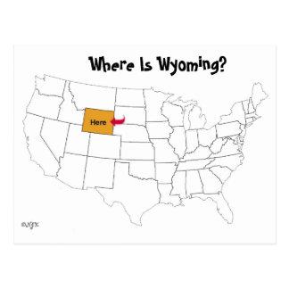 Postal ¿Dónde está Wyoming?