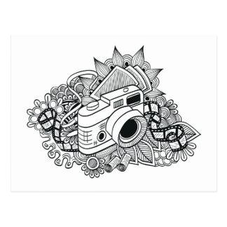 Postal Doodle de la cámara del inconformista