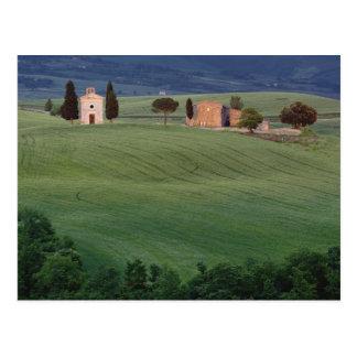Postal d'Orcia de San Quirico de la capilla, Toscana,