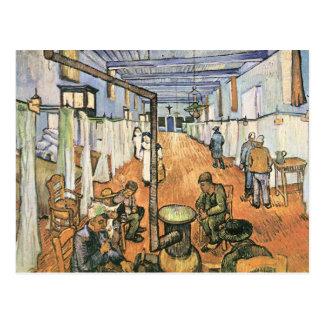 Postal Dormitorio en el hospital en Arles de Van Gogh