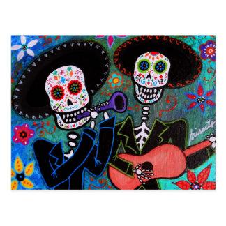 Postal DOS Amigos Dia de los Muertos