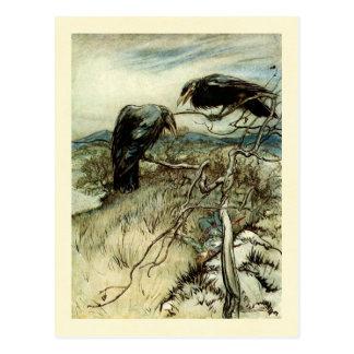 Postal Dos cuervos